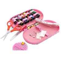 针线盒便携式旅行针线包大号小收纳盒家用缝纫工具迷你针线盒套装 颜色随机