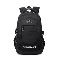 欧美新款双肩包男士学生书包时尚休闲旅行背包电脑包