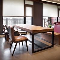 20190816114543282桌子简约现代美式家具实木书桌loft电脑台式桌家用写字简易办公桌
