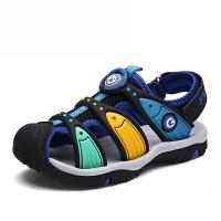 潮牌毛毛虫童鞋男童凉鞋2017夏季新款韩版儿童包头沙滩鞋女童宝宝凉鞋