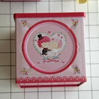 糖盒便携 圣诞苹果盒正方形中号饼干盒宝宝诞生满月礼盒茶叶苹果盒铁盒圣诞 9*9*9 厘米