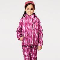 探路者童装 女童风格系列三合一套绒冲锋服