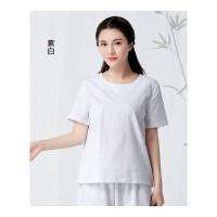 2018新款夏装手绘民族风T恤宽松显瘦女装短袖上衣