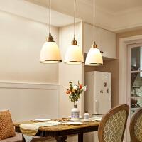 全铜美式餐厅吊灯餐桌吧台饭厅灯单头三头创意个性简约灯具