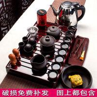 功夫茶具套�b整套家用�Р璞P陶瓷紫砂杯茶�厣w碗茶��配件