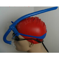呼吸管自由泳 青少年男女硅胶游泳训练正面呼吸管浮潜璞泳自由泳水下呼吸器