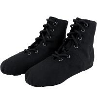 新款练功鞋女现代舞鞋高帮帆布爵士靴时尚儿童软底舞蹈鞋成人芭蕾舞鞋