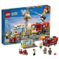【当当自营】乐高LEGO城市组CITY系列 60214 汉堡店消防救援