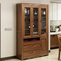 中式实木酒柜现代简约客厅家用厨房储物柜落地靠墙餐厅隔断柜