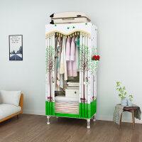 衣柜简易布衣柜 单人学生宿舍钢管加厚经济型 布艺小号衣橱长60cm