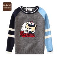 【2件1.5折到手价:78元】binpaw家男童毛衣 2019秋季新款潮流时尚卡通小熊套头男童线衣