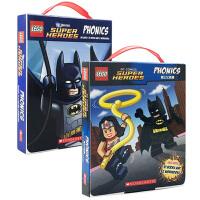 顺丰发货 Lego Super Heroes Phonics Lego DC Super Heroes Phonics 乐高超级英雄自然拼读24本 儿童趣味图画读物