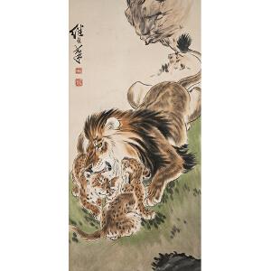 E1134 刘继卣 款《狮子》