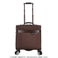 商务男士拉杆箱万向轮18寸登机箱小行李箱女牛津布密码旅行箱手提 豪华棕 001 牛津布