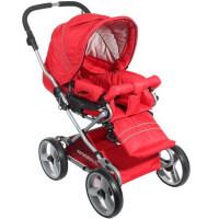 [当当自营]Kidsmile 凯德氏 可折叠可平躺 超强避震婴儿推车 婴儿车733A 红色
