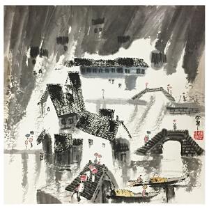 徐希《江南喜雨》著名画家