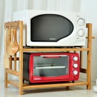 实木一二12层楠竹微波炉架储物架烤箱架厨房灶台置物角架落地层架