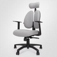 电脑转椅家用椅子升降座椅护腰办公游戏电竞椅人体工学椅 灰色08BH 尼龙脚