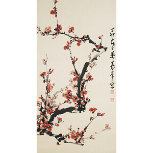 C126董寿平《梅花》(北京文物公司旧藏)
