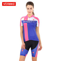 新款夏季骑行服短袖套装女 排汗透气自行车骑行服裤