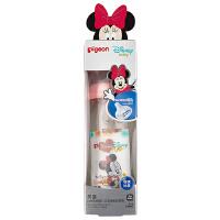 """贝亲Disney""""自然实感""""宽口径玻璃彩绘奶瓶240ml配M奶嘴(米妮宝宝-皮球)"""