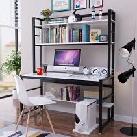 简易电脑桌子台式家用办公桌书桌带书架组合学生卧室学习桌一体桌