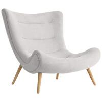 现代简约北欧蜗牛椅老虎椅休闲布艺懒人躺椅卧室阳台单人沙发椅子