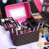 特大号化妆包多层大容量护肤品防水洗漱收纳盒简约便携化妆箱用