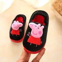 小猪佩奇儿童拖鞋卡通宝宝室内男童女童居家保暖防滑棉拖鞋