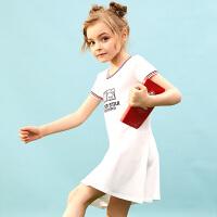 【2件3折价:65】小猪班纳童装女童连衣裙儿童公主裙2020新款夏装裙户外简约运动潮
