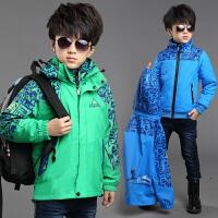 童装男童秋装外套中大儿童秋季可拆卸两件套三合一冲锋衣