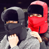 韩版东北加厚保暖护耳防风防寒棉骑行装备电动车摩托车帽男女