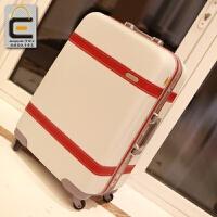 复古铝框拉杆箱可爱旅行箱女20/24寸潮皮箱行李箱万向轮原创