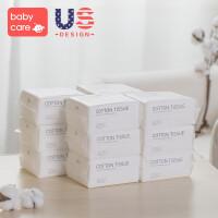 婴儿棉柔巾宝宝干湿两用棉厚新生儿非湿纸巾100*12包