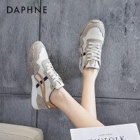 达芙妮复古阿甘鞋女2021春季新款学生平底时尚休闲运动跑步板鞋潮