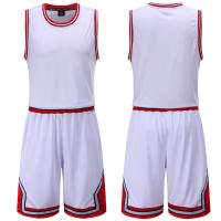 公牛队篮球服定制内衬篮球比赛服空版公牛球衣DIY速干透气印LOGO