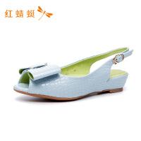 红蜻蜓女鞋春秋时尚蝴蝶结舒适新款百搭平跟工作鞋浅口单鞋-