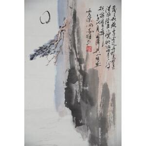 F吴山明  山水 61*34 纸本立轴