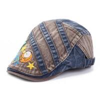 男孩鸭舌帽时尚牛仔帽遮阳防晒学生小孩帽子儿童春夏贝雷帽