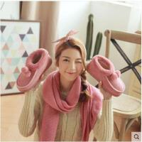 冬季韩版室内居家居月子毛拖鞋女男士厚底防滑情侣棉拖鞋包跟