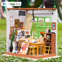 若态创意diy小屋纯手工拼装画室模型女生日礼物工艺礼品玩具