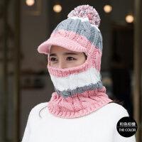 帽子女保暖毛线帽可爱女士帽子时尚韩版潮骑车护耳针织帽