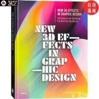 New 3D Effects 平面设计中的3D艺术 品牌形象 海报 版式 字体设计中的3D视觉艺术