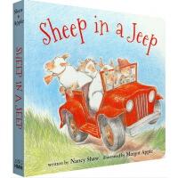 廖彩杏书单英文原版绘本 Sheep in a Jeep 吉普车里的羊 小羊向前冲 纸板书 韵文