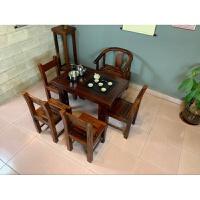 老船木茶桌椅阳台茶几客厅功夫小茶台新中式实木家具泡茶桌椅组合 整装
