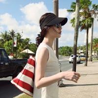 春夏天户外运动空顶帽韩国防晒遮阳帽太阳凉帽鸭舌帽男女跑步帽子