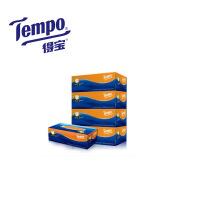 得宝4层盒装面巾纸4盒×90抽(苹果木味)