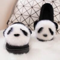 冬季棉拖鞋女士卡通包跟室内保暖月子鞋冬天家居家用防滑毛毛拖鞋