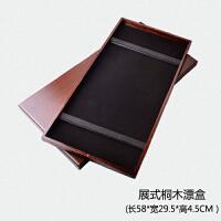 实木桐木浮漂盒套装子线盒主线盒55cm多功能渔具钓鱼用品
