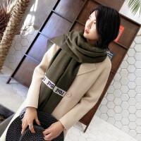 秋冬围巾女 冬季韩版百搭长款披肩围巾 两用加厚保暖围脖